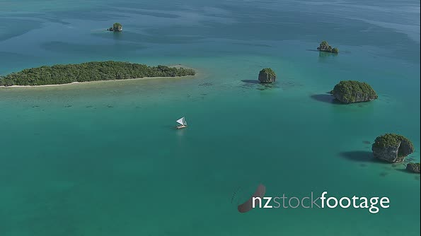 New Caledonia Outer Islands Sail Boat Aerial 1 4552