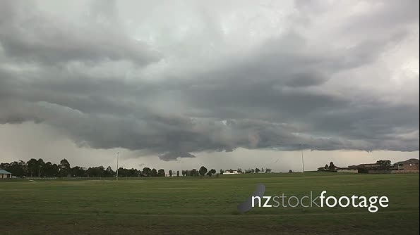 Shelf Cloud Timelapse over the suburbs 4846