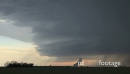 Spectacular Striated Supercell Time Lapse with Rain and Sunset 4879