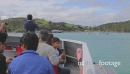 Boat passengers get georgeous first view of beautiful Waiheke Is 4973