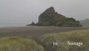 pan on Piha beach 4979