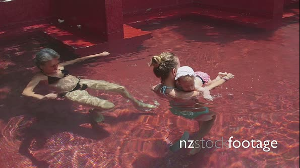 Mother And Daughter In Swimming Pool 5152
