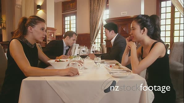 Wealthy Couples Dining In Fancy Restaurant 5162