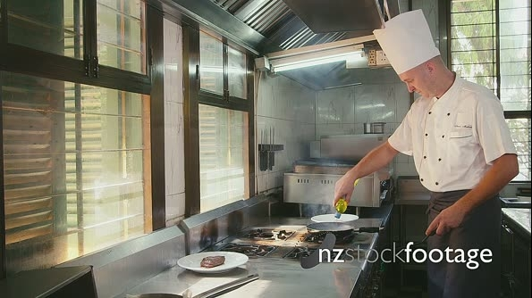 Professional Chef Cooking In Restaurant Kitchen 5178