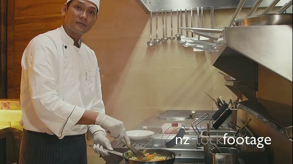 Professional Chef Working In Restaurant Kitchen 5181