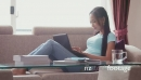 Young Woman Typing On Laptop Pc At Home 5222
