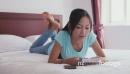 Young Asian Teenager At Home Studying In Bedroom 5223