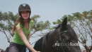 Young Woman Horseback Riding 5233