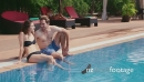 Boyfriend And Girlfriend Relax In Resort Swimming Pool 5238
