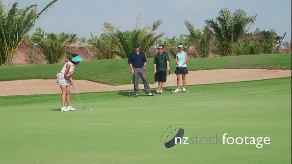 Asian Woman And Sports Activities In Golf Club 5251