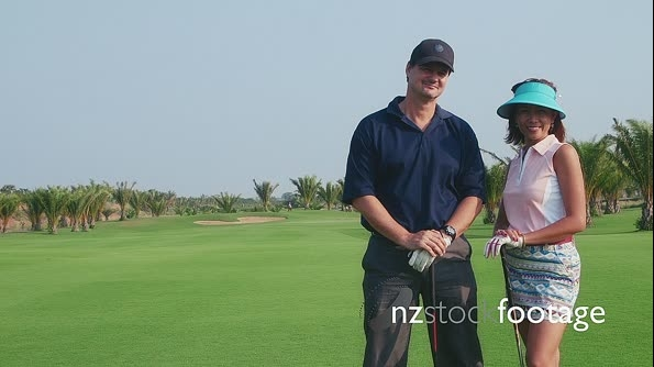 Portrait Of Interracial Couple In Golf Club 5266