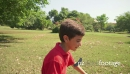 Boy, child, kid playing soccer, football in park, ball 5767