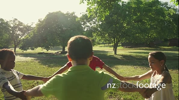 Children playing in park, happy young people, kids, friend 5780