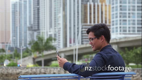 Asian businessman, chinese manager, man talking on mobile 5784