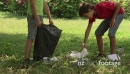 Kids, children cleaning park, people, ecology, trash, rubbish 5785