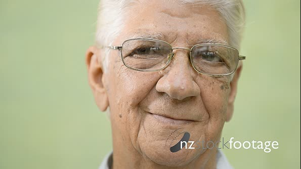 Portrait Of Old Hispanic Man Smiling At Camera 6129