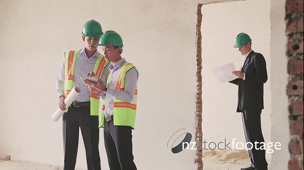 Workers And Architect Working In Construction Site 6143