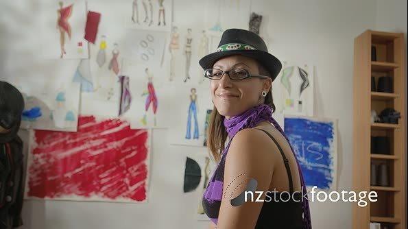 Portrait Of Hispanic Woman Working As Fashion Designer in Studio 6192