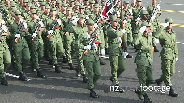 Army Soldiers Parade Cuba 6332