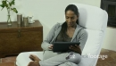 Interracial Couple With Ipad Digital Tablet Pc At Home 6367