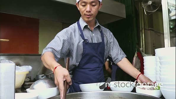 Street Restaurant In Cambodia With Asian Chef Preparing Food 6383