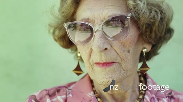 Portrait Of Old Woman With Glasses 7870